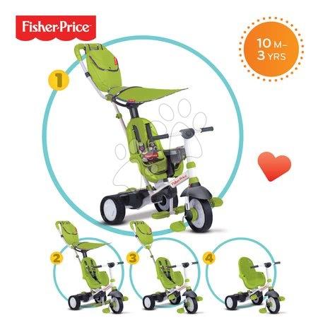 SMART TRIKE 3200033 trojkolka Fisher-Price Charisma TouchSteering zelená so slnečníkom a taškou +10 mesiacov