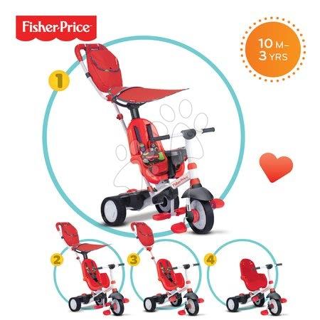 Tricikli Fisher-Price Charisma Touch Steering smarTrike piros 10 hó-tól