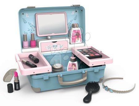 Detský kozmetický stolík - Kozmetický kufrík My Beauty Vanity 3in1 Smoby kaderníctvo a kozmetika s nechtovým štúdiom s 13 doplnkami