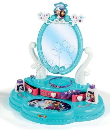 Detský kozmetický stolík Disney Top Frozen Smoby s 5 doplnkami 320213 akvamarínový