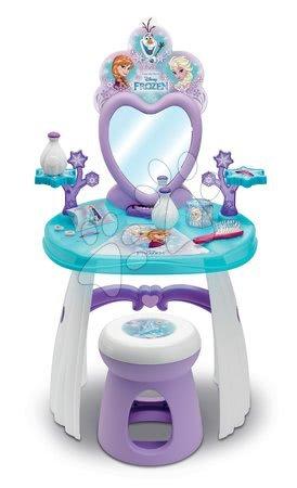 Kosmetický stolek Frozen Smoby s židlí a sněhovými vločkami 10 doplňků