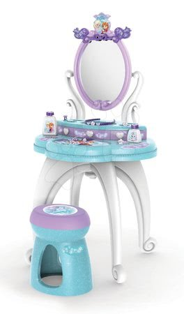 Kosmetický stolek Frozen 2v1 Smoby s židlí a 10 doplňků