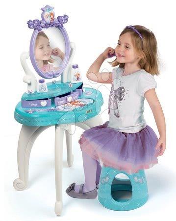 Detský kozmetický stolík - Kozmetický stolík Frozen 2v1 Smoby so stoličkou a 10 doplnkov