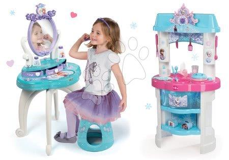Set kosmetický stolek Frozen Smoby se židlí a kuchyňka Frozen s třpytkami