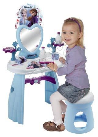 Detský kozmetický stolík - Kozmetický stolík so stoličkou Frozen Smoby so srdiečkovým zrkadlom a 10 doplnkami_1