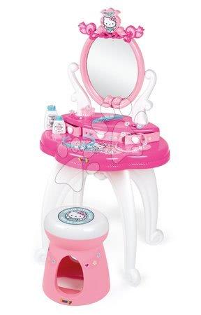 Kosmetické stolky sety - Set kosmetický stolek se židličkou Hello Kitty Smoby s kuchyňkou_1