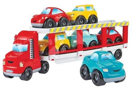 Építőjátékok - Építőjáték kamion Abrick Écoiffier kombinálható autókkal, 7 kisautó 18 hó-tól