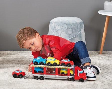 Stavebnice a kocky - Stavebnica kamión Abrick Écoiffier s kombinovateľnými autíčkami 7 aut od 18 mes_1