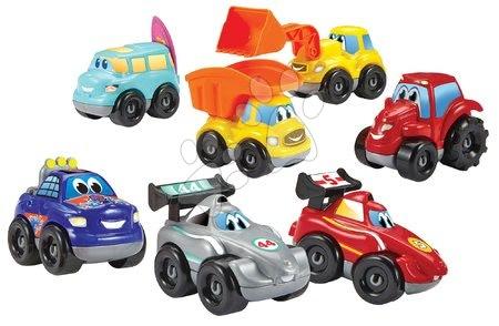 Építőjátékok - Épitőjáték 7 kisautóval Abrick Fast Car Écoiffier kombinálhatóak 18 hó-tól