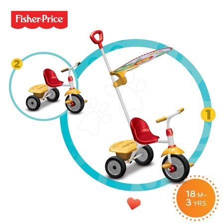 Trojkolky od 15 mesiacov - Trojkolka Fisher-Price Glee Plus smarTrike červeno-žltá od 18 mes