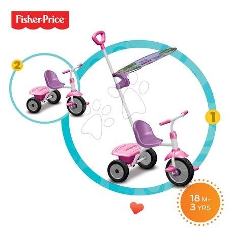 Trojkolky od 15 mesiacov - Trojkolka Fisher-Price Glee Plus smarTrike ružovo-fialová od 18 mes