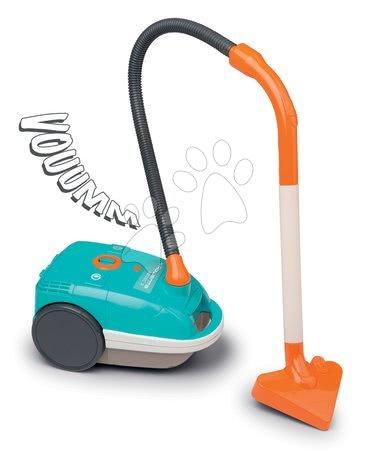 Hry na domácnosť - Upratovací vozík Rowenta Aqua Clean Smoby s elektronickým vysávačom a 3 doplnkami_1