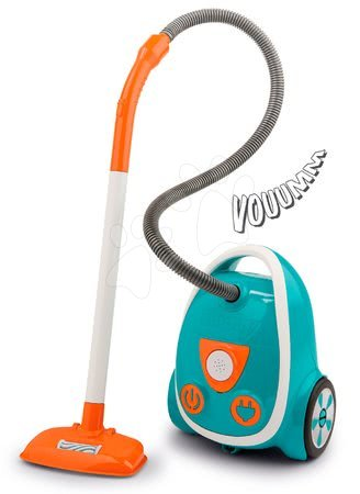 Hry na domácnosť - Vysávač elektronický Aqua Clean Vacuum Cleaner Blue Smoby s reálnym zvukom