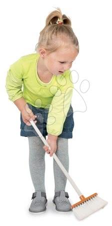 Hry na domácnosť - Metla s lopatkou na upratovanie Aqua Clean Smoby oranžová 3 dielna_1