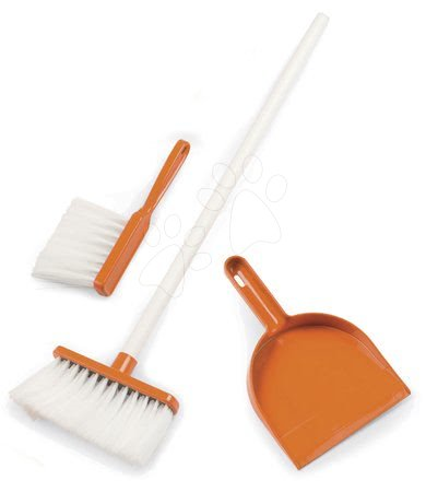 Mătură și făraș Aqua Clean Smoby design portocaliu 3 piese