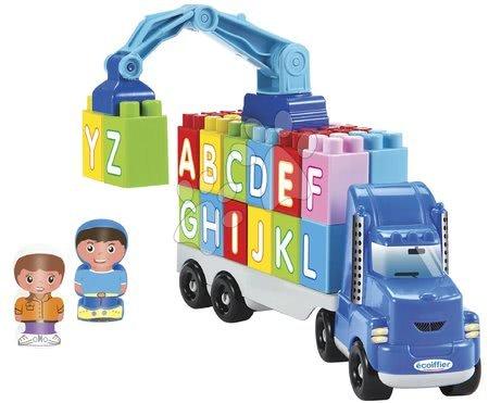 Építőjátékok - Kamion daruval ABC Abrick Truck Écoiffier 26 kockával 18 hó-tól