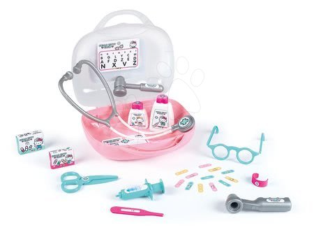 Medicinska kolica za djecu - Medicinski kovčeg Hello Kitty Smoby s 26 dodataka