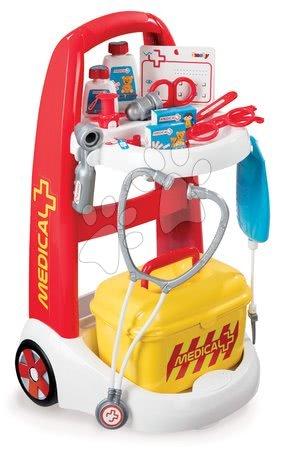 Detský lekársky vozík Medical Smoby s kufríkom a 16 doplnkami