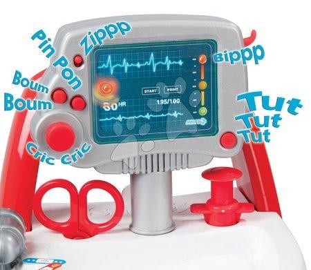 Medicinska kolica za djecu - Medicinska kolica Medical Smoby elektronička s plavim kovčežićem i 16 dodataka_1