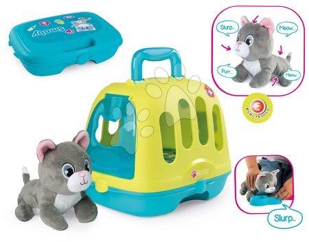 Veterinársky kufrík Veterinary Case Smoby s plyšovou mačičkou so 4 zvukmi a 10 doplnkov pre zvieratká