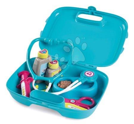 Medicinska kolica za djecu - Veterinarski kovčeg Veterinary Case Smoby s plišanom mačkom i 4 zvuka te 10 dodataka za životinje_1