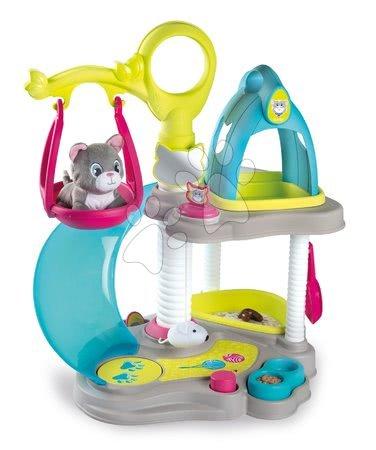 Medicinska kolica za djecu - Kućica za mačku Cat's House Veterinary Smoby elektronička sa zvukovima i tobogan s ljuljačkom te 6 dodataka