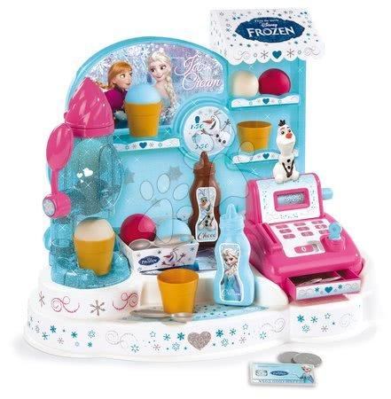 Supermarteturi pentru copii - Gelaterie Frozen Smoby cu cozonaci, casă de marcat şi 22 de accesorii sclipitoroare