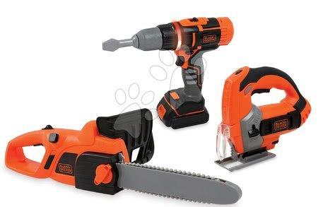 Oprema in orodje - Delovno orodje Black & Decker Smoby 3 druhy - motorna žaga, rezalnik in vrtalnik