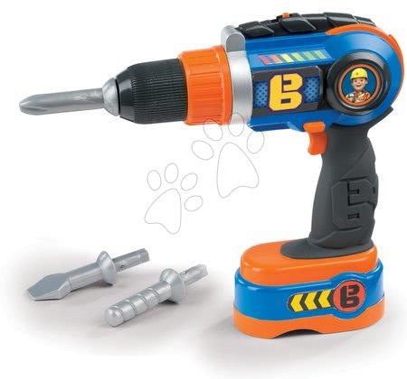 Oprema in orodje - Delovno orodje Bob the builder Smoby elektronsko, motorna žaga, vrtalnik in orodjem za oblanje_1