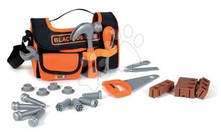 Oprema in orodje - Torba z orodjem Black&Decker Smoby kladivo žaga, izvijač in ključ z dodatki