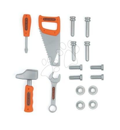 Oprema in orodje - Torba z orodjem Black&Decker Smoby kladivo žaga, izvijač in ključ z dodatki_1