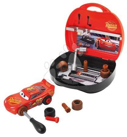 Oprema in orodje - Kovček z orodjem in sestavljivim avtomobilčkom Cars 3 Customiz' Smoby z nadomestnimi deli 4 cm