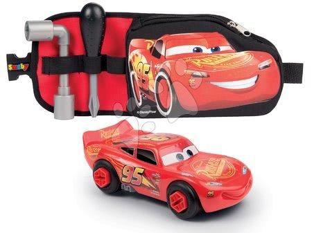 Oprema in orodje - Pas s sestavljivim avtomobilčkom Avtomobili 3 Smoby z orodjem in predalčkom na zadrgo