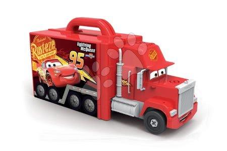 Autíčka a trenažéry - Kamion Cars Mack Truck Simulator Smoby se zvukem světlem a skládacím autíčkem_1