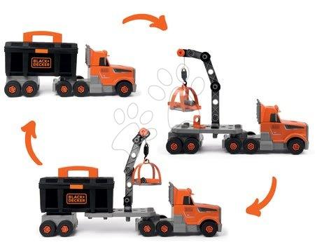 Pracovní dětská dílna - Kamion s pracovním kufříkem Black&Decker Truck Smoby a 60 doplňků s nářadím_1