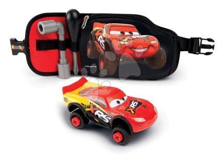 Opasok s autom Flash McQueen Cars XRS Smoby a pracovným náradím