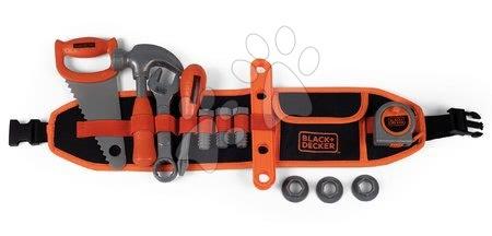 Oprema in orodje - Pas z orodjem Black&Decker Tools Belt Smoby 44 cm dolžina s 14 dodatki