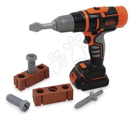 Oprema in orodje - Mehanski vrtalnik z nastavki Black&Decker Smoby in 6 dodatki