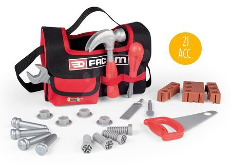 Oprema in orodje - Delovna torba z orodjem Facom Smoby z 21 dodatki