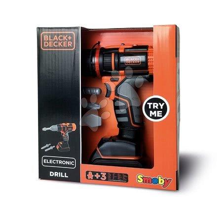 Oprema in orodje - Elektronski vrtalnik Black&Decker Smoby z zvokom lučko in 2 nastavki_1
