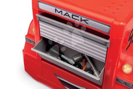 Pracovní dětská dílna - Pracovní dílna Mack Truck s autem Flash McQueen Cars XRS Smoby vozík se přihrádkami a 28 doplňky_1