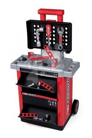 Pracovní dětská dílna - Pracovní stolek Facom Workshop Cart Smoby na kolečkách s 31 doplňky_1