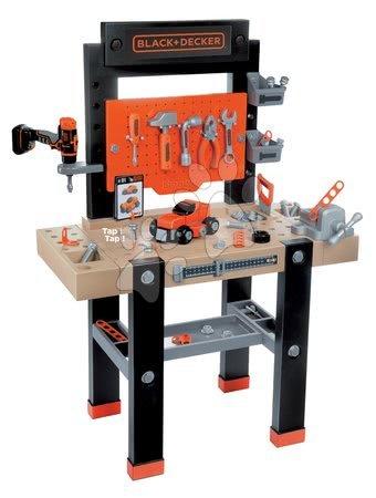 Pracovní dětská dílna - Pracovní dílna Black+Decker Smoby s mechanickou vrtačkou a autíčkem s 92 doplňky