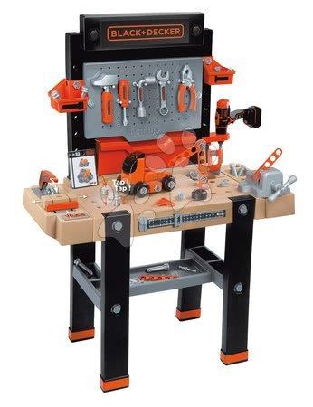 Pracovní dětská dílna - Set pracovní dílna Black+Decker Smoby s vrtačkou a elektronická motorová pila_1