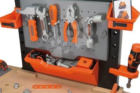 Pracovní dětská dílna - Pracovní dílna Black+Decker elektronická Smoby s vrtačkou, skládacím autíčkem a 95 doplňky_1