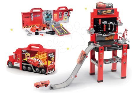 Set radionica s rampom za skokove Cars 3 Smoby i kamion Mack Truck električni