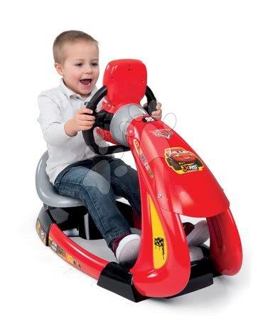 Autíčka a trenažéry - Trenažér Flash McQueen Cars XRS Smoby elektronický se závodním simulátorem a držákem smartphonu_1