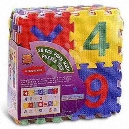 Lee Chyun - Habszivacs puzzle Számok és jelek Lee 28 darab 15*15*1,4 cm