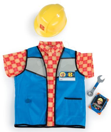 Pracovní oblečení Bořek stavitel Smoby s přilbou, vestou a mobilem