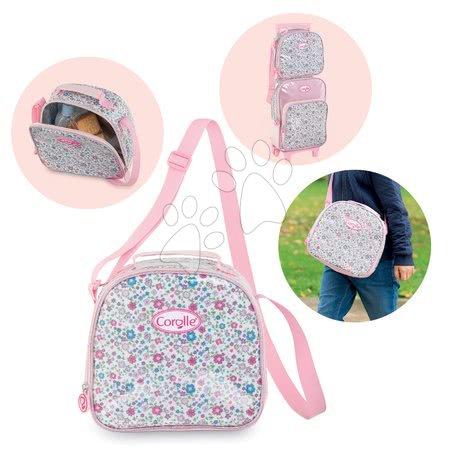 Šolske potrebščine - Torbica za čez rame Flowers Les Bagages Corolle Messenger Lunch Bag Isotherm rožasta 21*22*10 cm_1